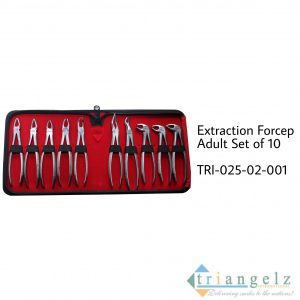 Extraction Forceps Adult Set of 10