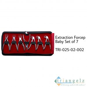 Extraction Forceps Baby Set of 7