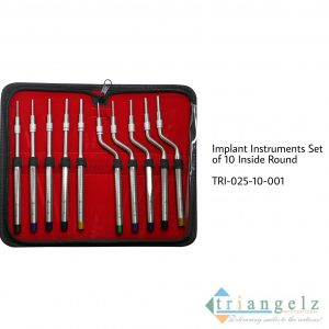 Implant Instruments Set of 10 Inside Round