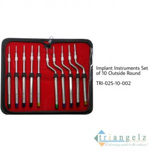 Implant Instruments Set of 10 Outside Round